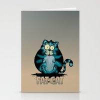 fat Stationery Cards featuring Fat Cat by mangulica