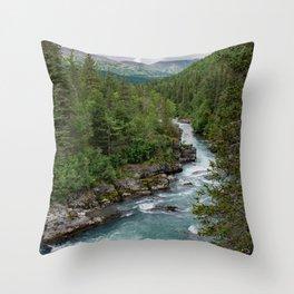 Alaska River Canyon - II Throw Pillow