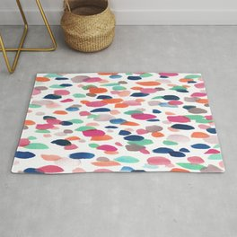 Watercolor Dashes Rug