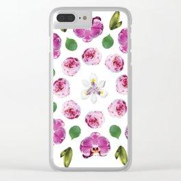 Belle Fleur: Orchids Clear iPhone Case