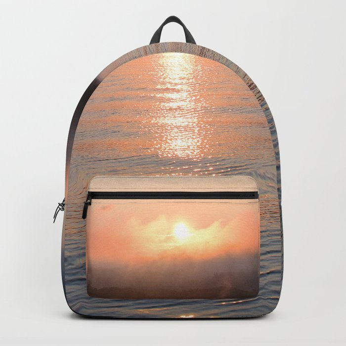 Reborn: Sunrise on Lake George Backpack
