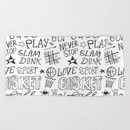 Basketball. Go! Beach Towel