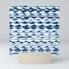 Glitch Waves - Classic Blue Mini Art Print