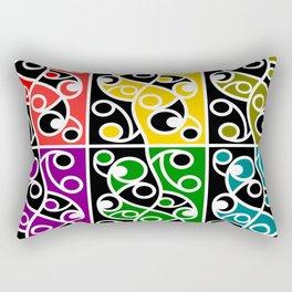 Maori Kowhaiwhai Pattern Rectangular Pillow
