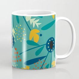 Floral dance in blue Coffee Mug