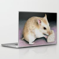 hamster Laptop & iPad Skins featuring Cute Hamster by ArtbyLucie