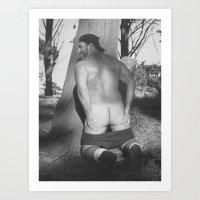 butt Art Prints featuring Butt by vooduude