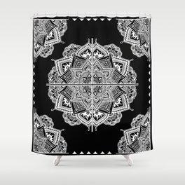 Mandala Lace (Tile) Shower Curtain