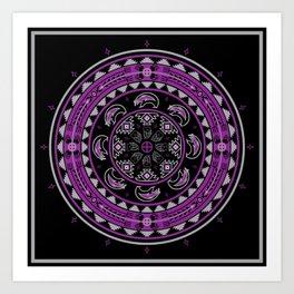 Bear Spirit (Purple) Art Print
