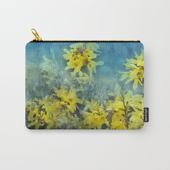 Dramatic Forsythia Carry-All Pouch