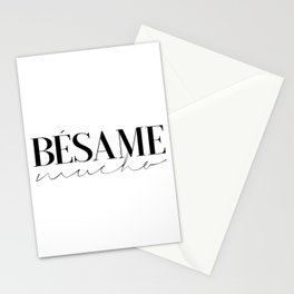 BESAME MUCHO SIGN, Love Quote,Love Art,Wedding Quote,Girls Room Decor,Girly Svg,Lovely Words,Modern Stationery Cards