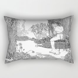 Le Jardin Secret Rectangular Pillow