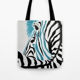 punk rock zebra Tote Bag