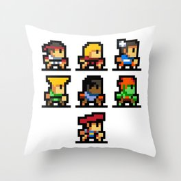 Minimalistic - Street Fighter - Pixel Art Throw Pillow