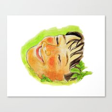 lie on the grass Canvas Print