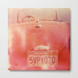 California Plate Metal Print