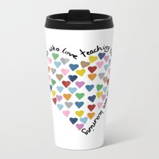 Hearts Heart Teacher Metal Travel Mug