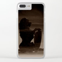 TALK TO THE LION... - sepia Clear iPhone Case