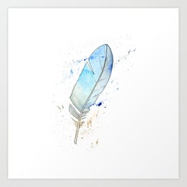 Splash feather Art Print