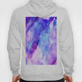 Watercolor hand painted pink teal lavender brushstrokes Hoody