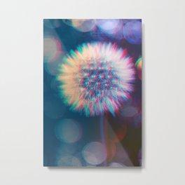 Blowing dandelion I Metal Print