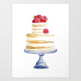 Berries cake Art Print