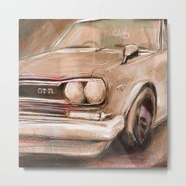 Datsun GTR Metal Print