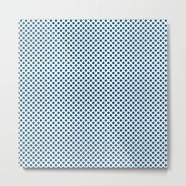 Snorkel Blue Polka Dots Metal Print