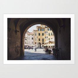 Tuscan Piazza Art Print