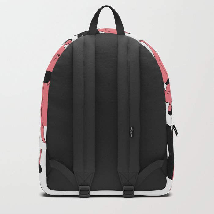 Pink Girls Pattern Backpack