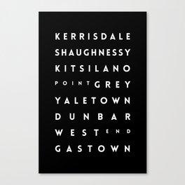 Vancouver Canvas Print