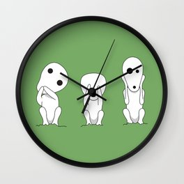 Three wise Kodamas Wall Clock