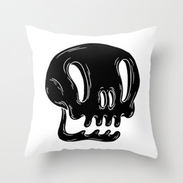 Calaverita negra Throw Pillow