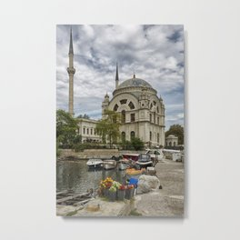 Mosque and the Flowers  Metal Print