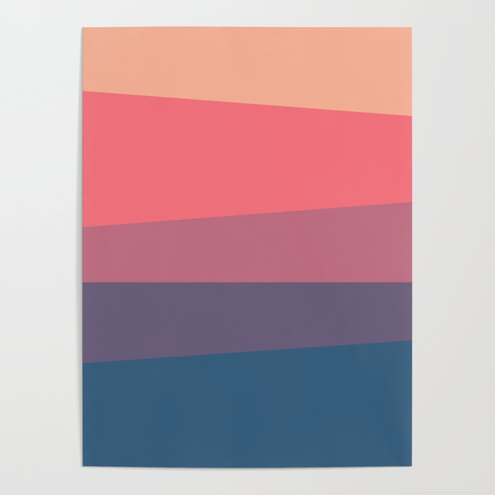 Red Blue Color Palette Poster By Artsimo Society6