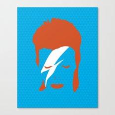 Ziggy Stardust - Blue Canvas Print