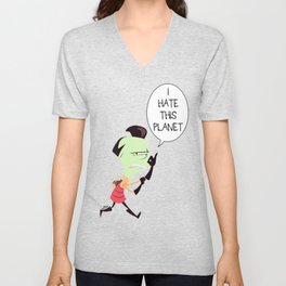 I HATE THIS PLANET Unisex V-Neck