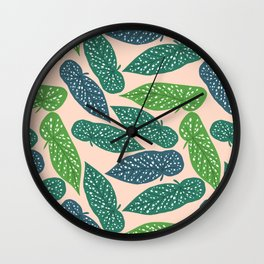 Begonia Maculata Wall Clock