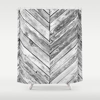 antique Shower Curtains featuring Antique Wood by Patterns and Textures