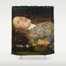 OPHELIA - JOHN EVERETT MILLAIS Shower Curtain