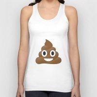 emoji Tank Tops featuring Emoji Poo by Emojis on Mugs, Tshirts, Phone Cases & M
