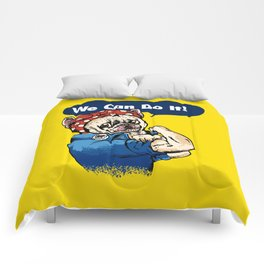 We Can Do It French Bulldog Comforters