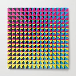 Pyramids - Geometric art Metal Print