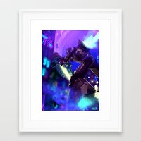 kaiju Framed Art Prints featuring Kaiju by fake user