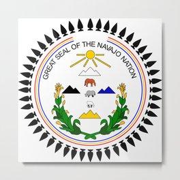 Great Seal of the Navajo Nation Metal Print