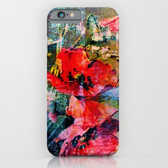 poppies and textures iPhone & iPod Case