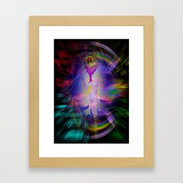 Abstract Perfection 38  Heavenly apparition Framed Art Print