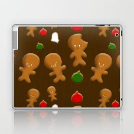 Gingerbread Men Pattern Laptop & iPad Skin
