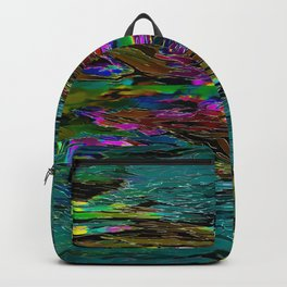 Evening Pond Rhapsody - Digital painting Backpack
