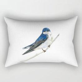 Blue Boy - Tree Swallow by Teresa Thompson Rectangular Pillow